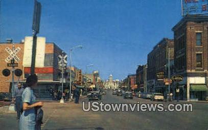 Main St & Court House - Pine Bluff, Arkansas AR Postcard