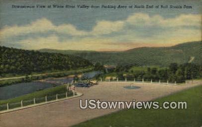 White River Valley - Bull Shoals Dam, Arkansas AR Postcard