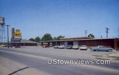 Alamo Court & Davy Crockett Restaurant - Walnut Ridge, Arkansas AR Postcard