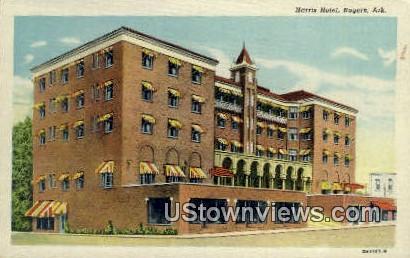 Harris Hotel - Rogers, Arkansas AR Postcard