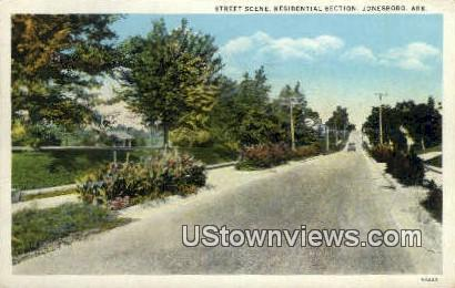 Residential Section - Jonesboro, Arkansas AR Postcard