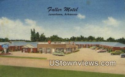 Fallerr Motel - Jonesboro, Arkansas AR Postcard