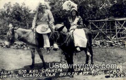 Real Photo - Aunt Boo & Grandpa Snazzy - Van Buren, Arkansas AR Postcard