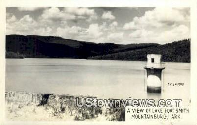 Real Photo - Lake Fort Smith - Mountainburg, Arkansas AR Postcard
