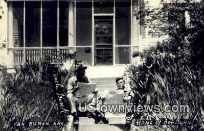 Real Photo - Home of Bob Burns - Van Buren, Arkansas AR Postcard