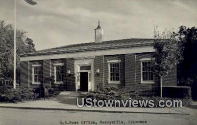 Real Photo - US Post Office - Berryville, Arkansas AR Postcard