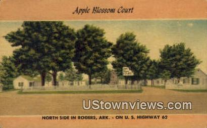 Apple Blossom Court - Rogers, Arkansas AR Postcard