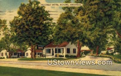 Hillcrest Motel - Rogers, Arkansas AR Postcard