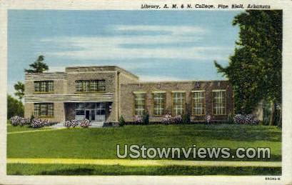 Library, A M & N College - Pine Bluff, Arkansas AR Postcard
