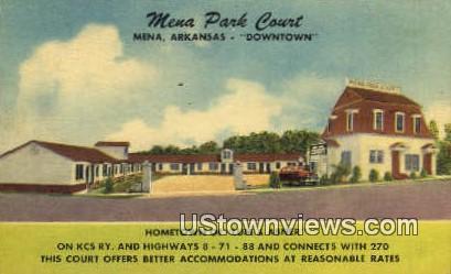 Mena Park Court - Arkansas AR Postcard