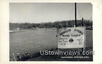 Real Photo  - Mammoth Spring, Arkansas AR Postcard