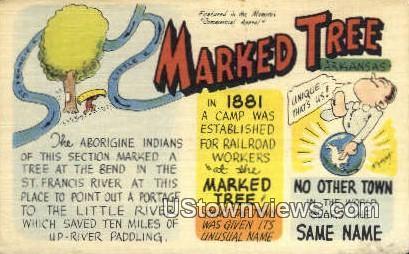 Dr Jr Black, First Drug Store - Marked Tree, Arkansas AR Postcard
