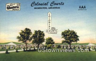 Colonial Courts - Morrilton, Arkansas AR Postcard