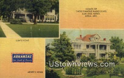 Lum's Home - Mena, Arkansas AR Postcard