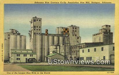 Ark Rice Growers Co Op Assoc Rice Mill - Stuttgart, Arkansas AR Postcard