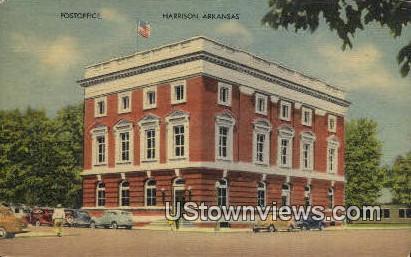 Post Office  - Harrison, Arkansas AR Postcard