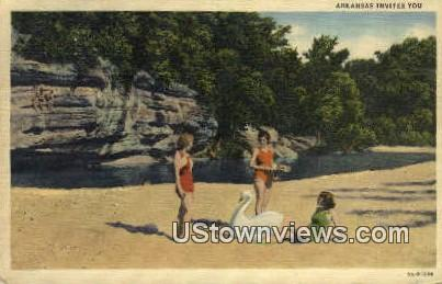 buffalo River - Harrison, Arkansas AR Postcard