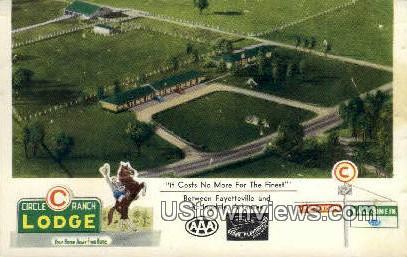 Circle Ranch Lodge - Springdale, Arkansas AR Postcard