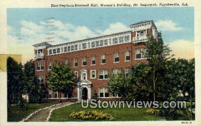 Elza Stephens Remmell Hall - Fayetteville, Arkansas AR Postcard