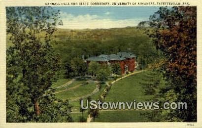 University of Arkansas - Fayetteville Postcard