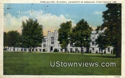 Agricultural Bldg, University of Arkansas - Fayetteville Postcard