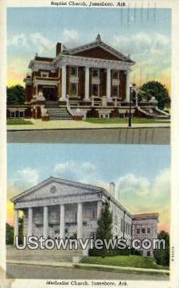 Baptist Church - Jonesboro, Arkansas AR Postcard