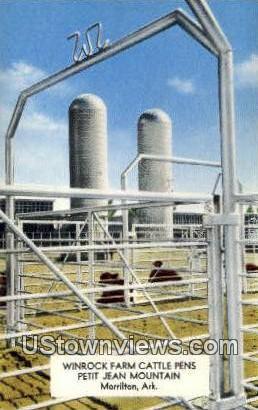 Winrock Farm Cattle Pens - Morrilton, Arkansas AR Postcard