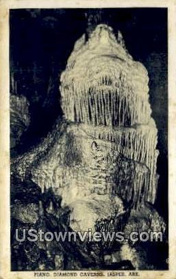 Piano, Diamond Caverns - Jasper, Arkansas AR Postcard