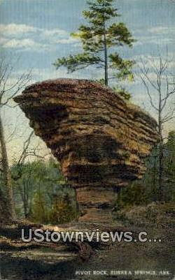 Pivot Rock - Eureka Springs, Arkansas AR Postcard