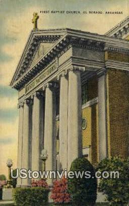 First Baptist Church - El Dorado, Arkansas AR Postcard