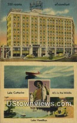 Hotel Como - Hot Springs National Park, Arkansas AR Postcard