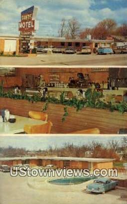 Sands Motel & Restaurant - Rogers, Arkansas AR Postcard