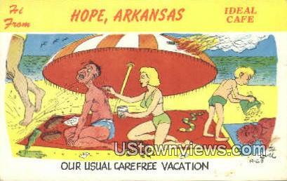 Hope, Ark,    ;    Hope, Arkansas Postcard