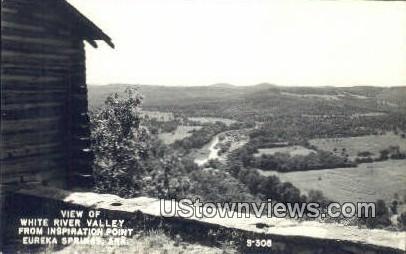 White River Valley, Inspiration Point - Eureka Springs, Arkansas AR Postcard