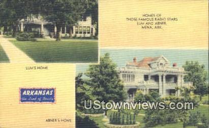 Lum's Home, Abner's Home, Radio Stars - Mena, Arkansas AR Postcard