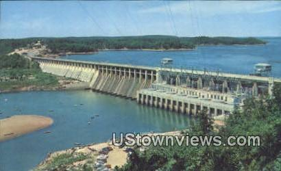 Bagnell Dam & Lake of the Ozarks - Osage River, Arkansas AR Postcard