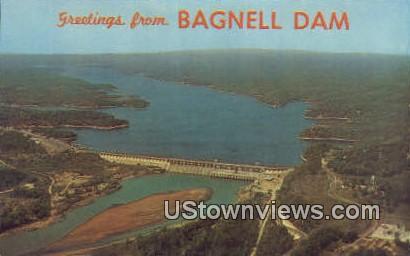 Bagnell Dam, Ark,    ;    Bagnell Dam, Arkansas Postcard