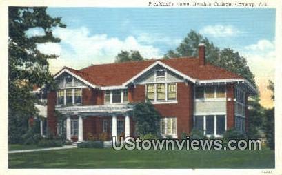 President's Home, Hendrix College - Conway, Arkansas AR Postcard