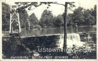 Real Photo - Swimming - Sulphur Springs, Arkansas AR Postcard