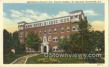 Elza Stephens Remmell Hall, Mt Sequoyah - Fayetteville, Arkansas AR Postcard