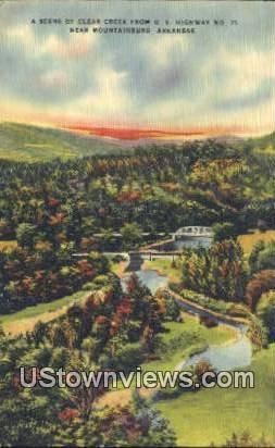 Clear Creek - Mountainburg, Arkansas AR Postcard