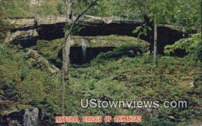 Natural Bridge - Clinton, Arkansas AR Postcard