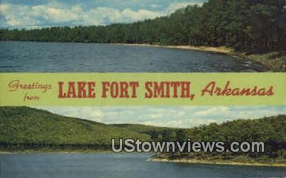 Lake Fort Smith, AR,    ;    Lake Fort Smith, Arkansas Postcard