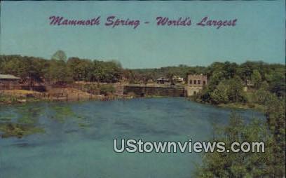 Mammoth Spring Dam - Arkansas AR Postcard
