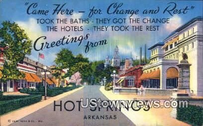 Hot Springs National Park, Ark,    ;    Hot Springs National Park, Arkansas Postcard