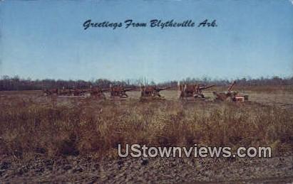 Soy Bean Harvest - Blytheville, Arkansas AR Postcard