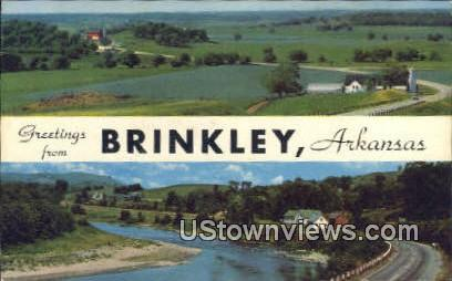 Brinkley, AR,    ;    Brinkley, Arkansas Postcard