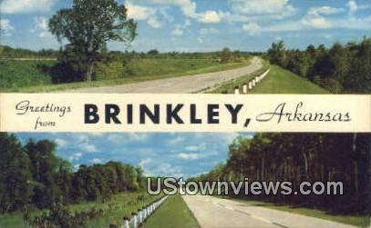 Brinkley, AR,    ;    Brinkley, Arkansas Postcard