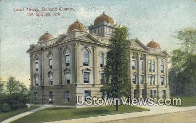 Court House, Garland County - Hot Springs, Arkansas AR Postcard