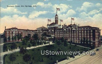 Eastman Hotel - Hot Springs, Arkansas AR Postcard
